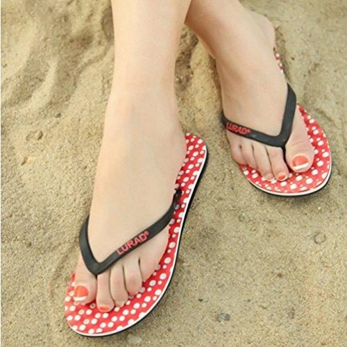 Air Confortable Flip Flops Rouge Sandales Baymate Plage De En Massage Femmes Plein 7IqEvx5q