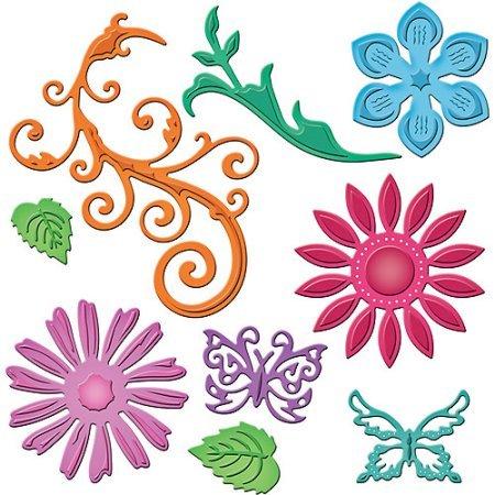 Spellbinders Shapeabilities Dies Jewel Flowers And Flourishes (Shapeabilities Jewel)