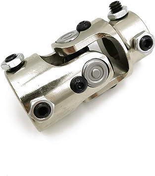 3-1//4 Ensun 3//4-36 Spline x 3//4 Round Black Single Steering Shaft Universal U Joint Maximum Working Angle: 35/° Degree Total Length: 83mm
