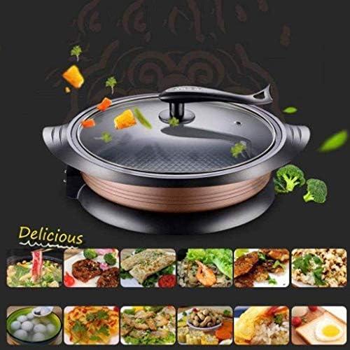 Poêle, Cuisinière électrique électrique Hot Pot électrique Barbecue électrique de cuisson Pan 1800W, non-Stick Frying Pan JIAMING