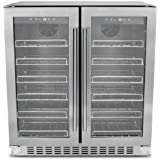 New Thor Kitchen 24'' 66 Bottles Built-in Freestanding Touchpad Digital Wine Cooler