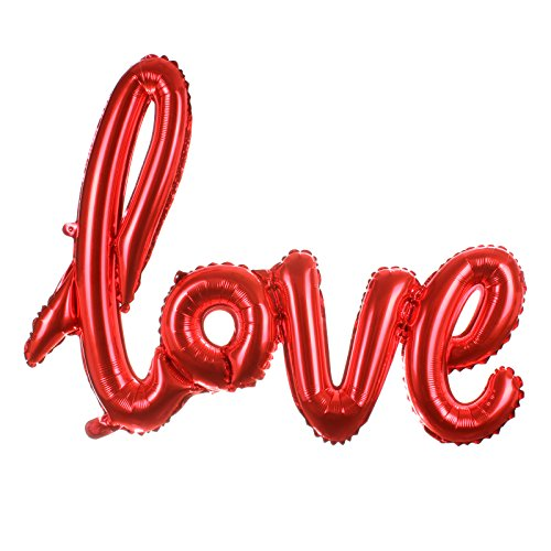 Odstore Love Balloon Banner -Red Color Celebration Balloon - 31.1 Inches Long (2pcs, Red)