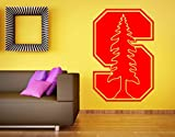 Stanford Cardinal Wall Decal Sticker NCAA College Football Home Interior Removable Decor (34''high X 22''wide)