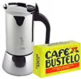 3 oz stainless steel cup - Bialletti Venus Stainless Steel 4 Cup Coffee maker. Includes one Bustelo 10 0z vacuum coffee pack.
