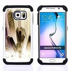 - painting white gold jewels clean/ H??brido 3in1 Deluxe Impreso duro Soft Alto Impacto caja de la armadura Defender - SHIMIN CAO - For Samsung Galaxy S6 G9200