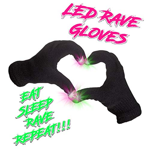 LED Flashing EDM Light-Up Festival Gloves with Finger Lights]()