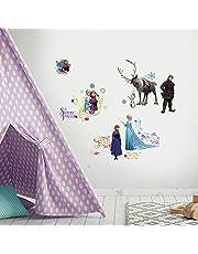 Roommates 23610 - ijskoningin (Frozen) wandtattoos/stickers, geblisterd, 4 vellen, 36 elementen