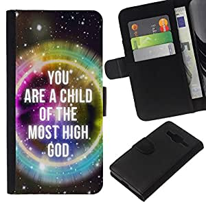 All Phone Most Case / Oferta Especial Cáscara Funda de cuero Monedero Cubierta de proteccion Caso / Wallet Case for Samsung Galaxy Core Prime // BIBLE You Are The Child Of The Most High God