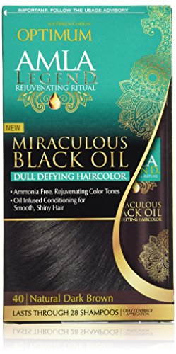 Optimum Care Amla Legend Miraculous Oil Dull Defying Hair Color, Natural Dark Brown ()