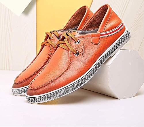 tamaño Cuero de de Up HhGold Color Casuales Mens Claro Marrón 38 40 Redonda Azul Mocasines EU Color los para Tamaño Lace cómodos Hombres de Cabeza Azul Hombres Zapatos 5XgvxwxqE