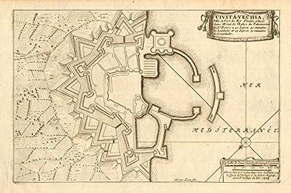 Amazon.com: 'Civita-Vechia'. Civitavecchia. Fortified town ... on italian regions italy map, frascati italy map, matera italy map, acireale italy map, montichiari italy map, florence italy map, lavagna italy map, chivasso italy map, poggio italy map, castelsardo italy map, marseilles italy map, avignon italy map, munich italy map, sezze italy map, kotor italy map, locri italy map, codroipo italy map, ports of italy map, palau italy map, marotta italy map,
