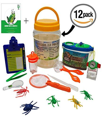 Adventure Kids - Bug Catcher, Habitat Bucket, Tongs, Magnifier, eBook & More – Educational, Imaginative & Creative Toys. Explorer Kit Great Kidz Gift Set For Birthday, Camping, Nature & Backyard Fun (Wild Science Kit)