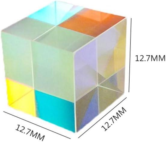 Famed 3-teiliges X-Cube 6-seitige helle Lichtw/ürfel optische Linse Buntglas-Prisma optisches Experimentinstrument 12.712.712.7 mm Strahlspaltprisismus