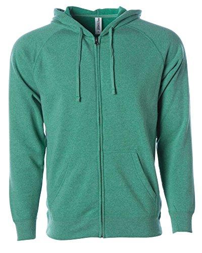 (Global XL Sweatshirt Men Hoodie Sweater Women Full Zip Soft Fleece Active Jacket Sea Green)
