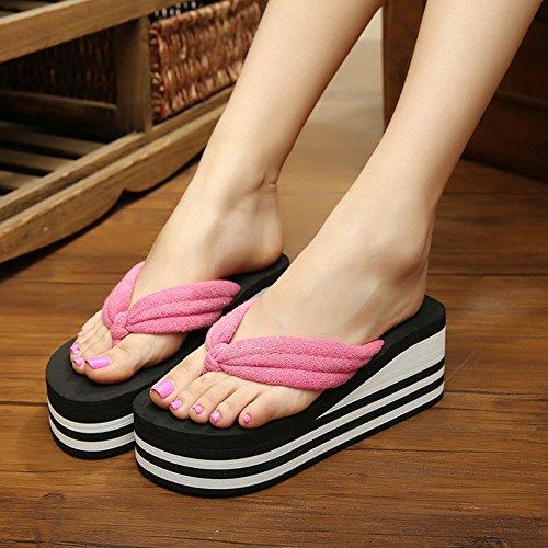 De Tacón MEIDUO 37 Playa Las sandalias Mujeres 39 38 De Zapatos Chanclas cómodo 36 De De Alto 1003 Verano Zapatos w7ISIxd