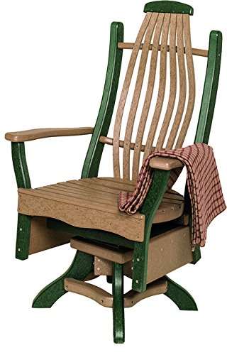 Furniture Barn Poly Lumber Bentwood Style Swivel Arm Chai...
