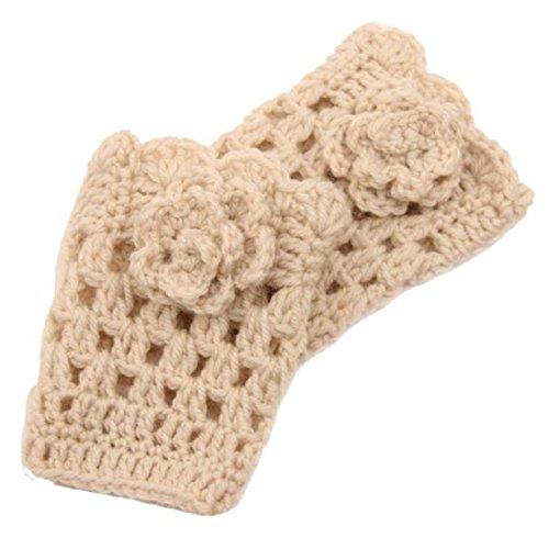AutumnFall Women's Crocheted Leg Boot Cuffs Topper Double