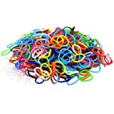 """Colorful Silicone LOOM BANDS - 600 Bands & 25 """"S"""" Clips!"""