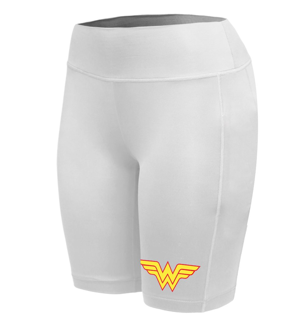 Sysuser Womens Wonder Woman Mid Thigh Yoga Workout Legging Shorts