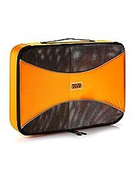 Pro cubos de embalaje Ultra ligero equipaje Organizador para viajes, con nailon Ripstop resistente y fiable cremalleras YKK, grande, naranja