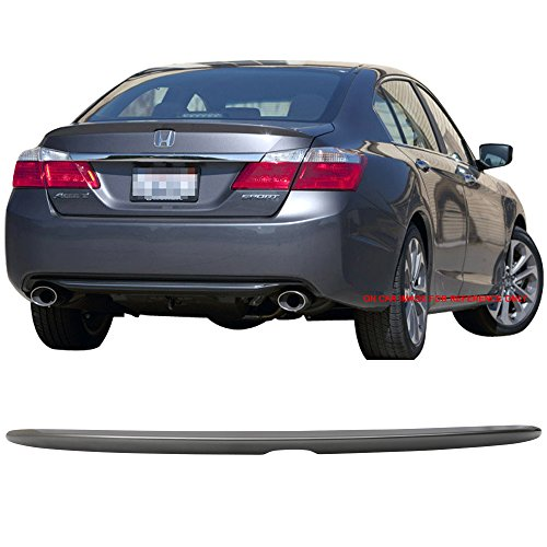 Pre-painted Trunk Spoiler Fits 2013-2016 Honda Accord | OE Style ABS Painted Polished Metal Metallic #NH737M Trunk Boot Lip Spoiler Wing Deck Lid Other Color Available By IKON MOTORSPORTS | 2014 2015