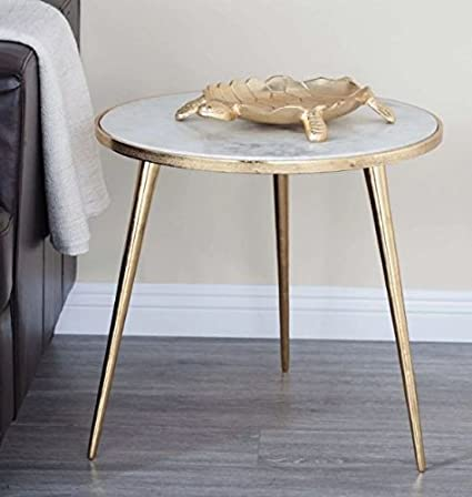 end table decor modern amazoncom round classic end table with storage area side dcor elegance coffee gold cocktail furniture table kitchen dining