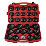 Detectoy 30PCS Cup Type Oil Filter Cap Wrench Socket Removal Tool Set Installing Pick Up Tool Kit For Vehicle Car
