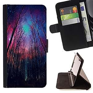 King Case - FOR Apple Iphone 5 / 5S - give up the purpose - Prima caja de la PU billetera de cuero con ranuras para tarjetas, efectivo Compartimiento desmontable y correa para la mu?eca