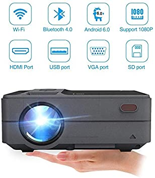 Mini Portátil Bluetooth WiFi Proyector LED 3200 Lumen Al Aire ...