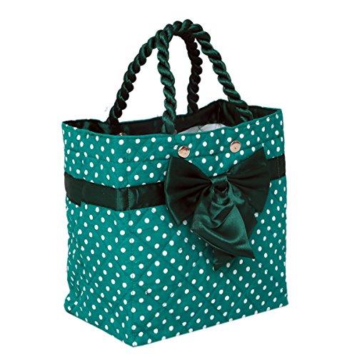 Kuber Industriestm elegante fiocco in raso trapuntato borsetta, regalo perfetto per girls-ki19405