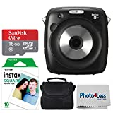 Fujifilm Instax Square SQ10 Hybrid Instant Camera + Fujifilm Instax Square Instant Film (10 Shots) Sandisk 16GB Memory Card + Case + Photo4Less Cleaning Cloth – International Version (No Warranty)