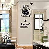 RFVBNM Individuality Creative mute quartz clock living room bedroom study kitchen office wall clock Perfect for housewarming Gift birthday present 5087.5cm
