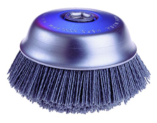 Osborn ATB Abrasive Nylon Cup Brush with Round Trim, Silicon Carbide Bristle, 6000 RPM, 6