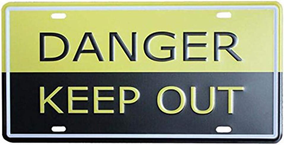 d/écoration Murale 30 x 15 cm caf/é Maison Danger Keep Out Bar Eureya Retro Pub Plaque dimmatriculation de Voiture 30X15cm