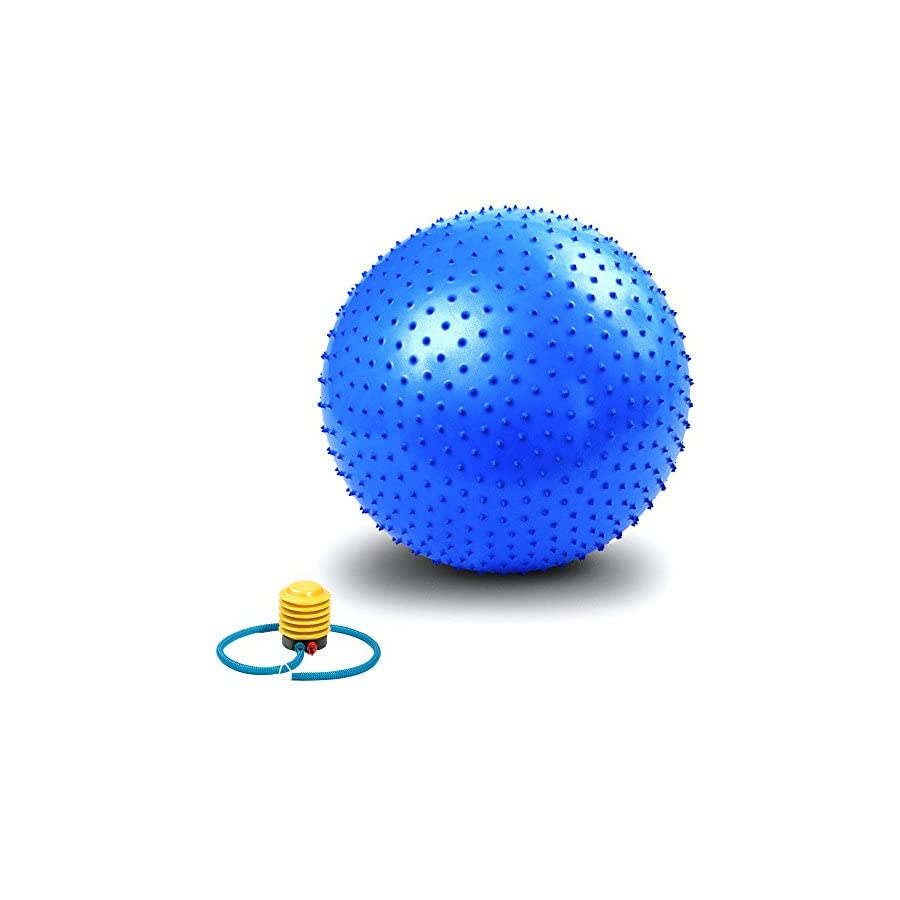Exercise Ball, VLENIEN Anti Burst and Slip Resistant Athletic Inflatable Twist Massage Balance Fitness balll with Pump