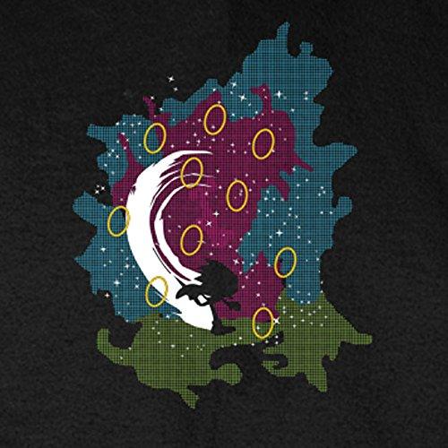 Hedgehog Rings - Herren T-Shirt, Größe: S, Farbe: schwarz