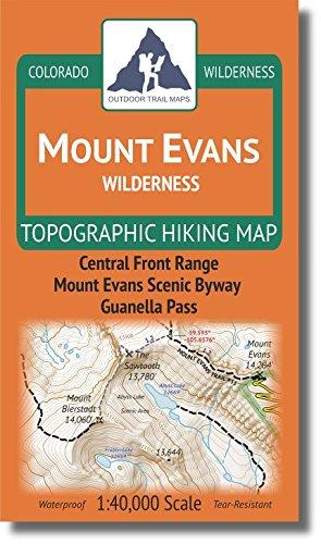 Mount Evans Wilderness - Colorado Topographic Hiking Map (2018)