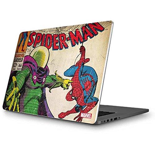 Skinit Marvel Spider-Man MacBook Pro 15 (2012-15 Retina Display) Skin - Spider-Man vs. Mysterio Design - Ultra Thin, Lightweight Vinyl Decal Protection (Macbook Pro With Retina Display Vs Macbook Pro)