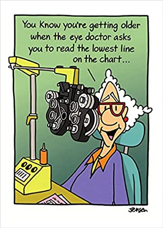 Amazon.com: Mujer en Eye Doctor – Oatmeal Studios Funny ...