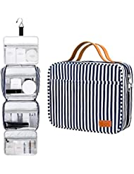 Hanging Travel Toiletry Bag,Large Capacity Cosmetic Travel Toiletry Organizer for Women with 4 Compartments & 1 Sturdy Hook,Perfect for Travel/Daily Use/Valentines Day