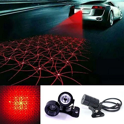 Car Cool Pattern Anti-Collision End Rear Tail Fog Driving Laser Caution Light (Cool Car Interior Accessories)