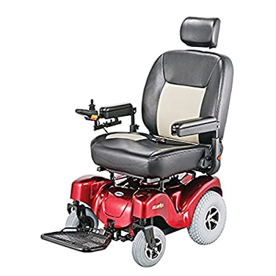 """Merits Health Products - Atlantis - Bariatric Power Chair - 24""""W x 20""""D - Red"""