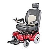 "Merits Health Products - Atlantis - Bariatric Power Chair - 24""W x 20""D - Red"