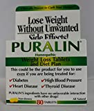Puralin Homeopathic Weight Loss Tablets and Diet Plan 80 Count