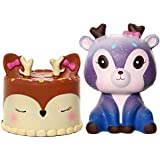 FUYAGE Kawaii Deer Cake with Galaxy Deer Squishies Slow Rising jumbo Squishy Squeeze Toys for Kids and Adults