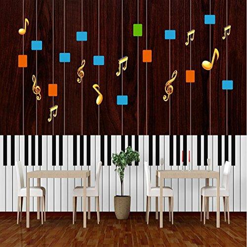 HHCYY Pianoforte Musica Moderna Sfondi Per Soggiorno 3D Carta Da ...