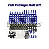 WYNMOTO Full Motorcycle Fairing Bolt Kit For Yamaha R6 06 07 YZF-600 R6 2006 2007 New Body Screws Aluminum Fasteners Hardware Clips (Blue)