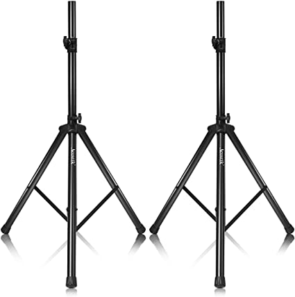 Amazon Com Akustik Universal Speaker Stand With 37 5 75 Adjustable Height 35mm Compatible Insert 150lbs Weight Capacity Safety Locking Knob Pin Dj Pa Tripod Stand Pair Of 37 5 75 Musical Instruments
