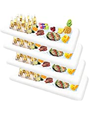 ALLADINBOX Inflatable Serving Bar, 4 Pack Ice Serving Buffet Salad Cooler Food Fruit Drink Containers with Drain Plug, Floating Tray Beverage BBQ Picnic Pool Party Supplies Inflatable Cooler, White