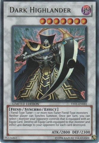 Yu-Gi-Oh! - Dark Highlander (YF01-EN001) - 5D's Manga Promos - Promo Edition - Ultra Rare (Best Fiend Monsters Yugioh)